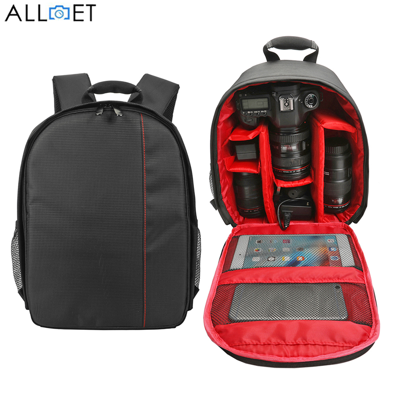 ALLOET Multi-functional Camera Bag Waterproof Outdoor Digital DSLR SLR Camera Backpack Photo Video Bag Case For Nikon Canon Sony