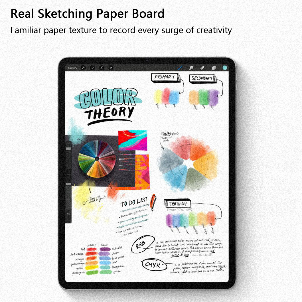 Paper Like Screen Protector Film Matte PET Anti Glare Painting For Apple iPad 9 7 Pro
