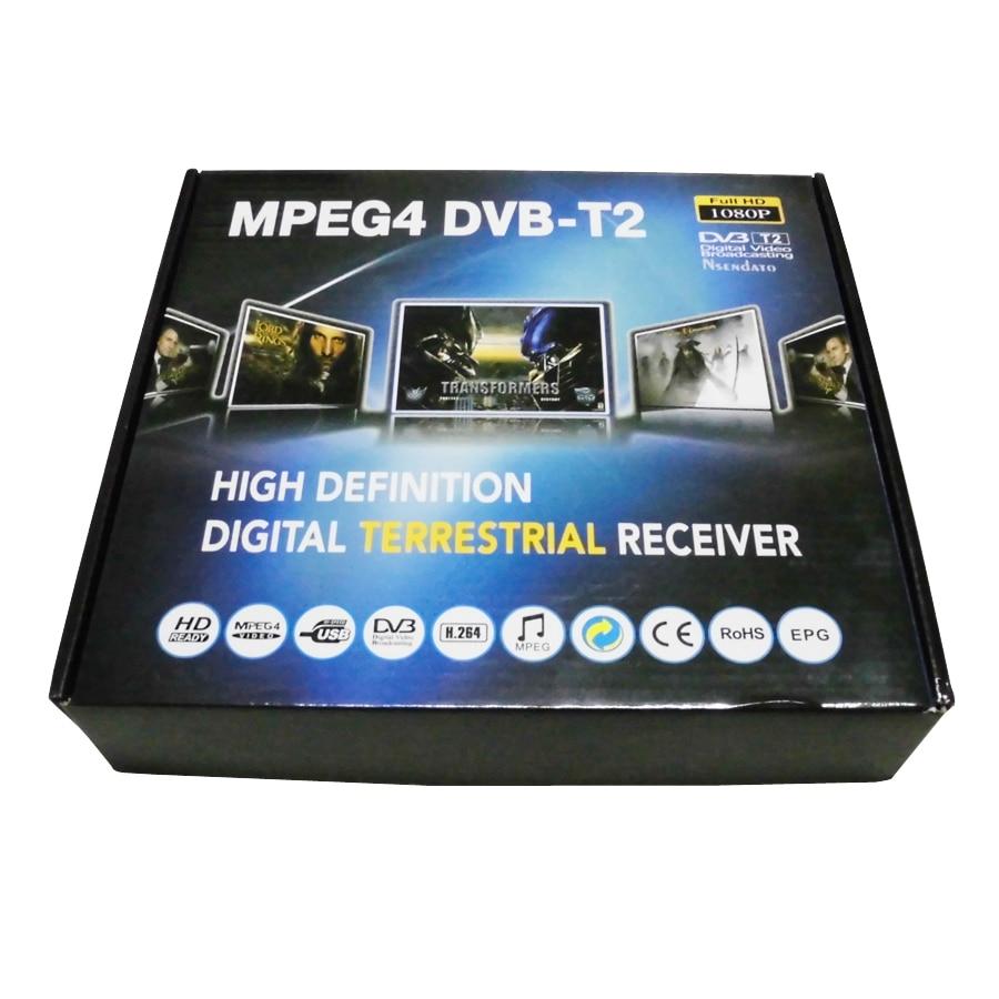 цена на New HD PVR Digital Terrestrial MPG4 DVB-T2 TV Receiver H.264 1080P DVB T2 Tuner With USB,Wholesale Free shipping Dropshipping