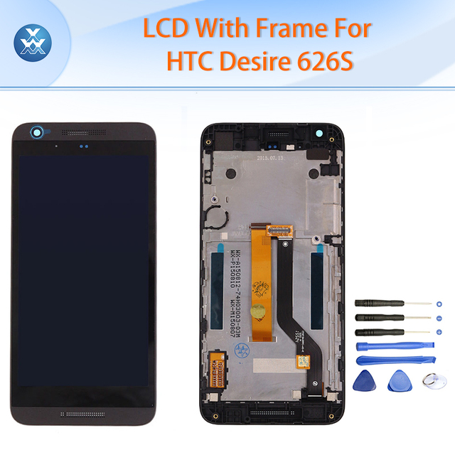 "Black white Original LCD for HTC Desire 626S LCD display touch screen digitizer frame full assembly 5"" pantalla replacement+tool"
