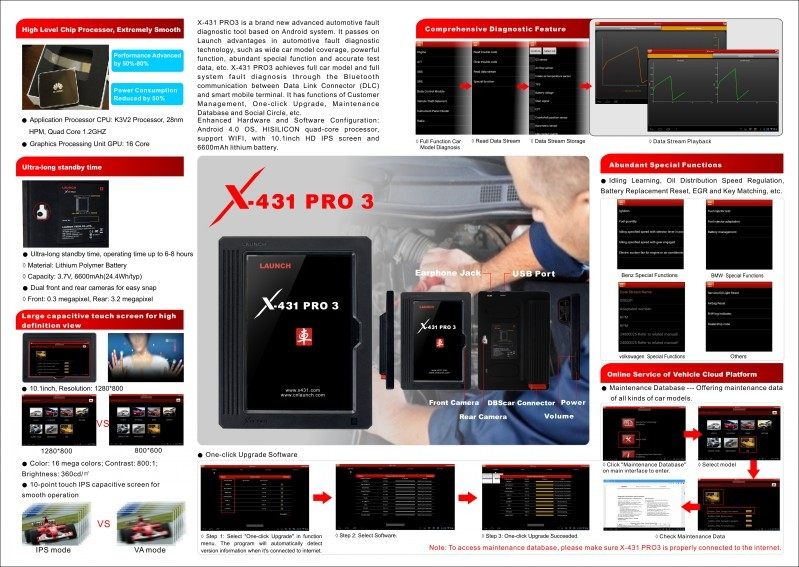 Newest Original Launch X431 PRO3 X431 PRO 3, launch X431 PRO 3 car scanner x 431 pro 3 diagnostic tool for many vehicles