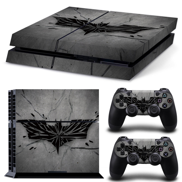 Grey batman ps4 skin sticker for sony ps4 free shipping for Housse manette ps4