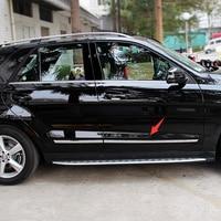 ABS Chrome Боковая дверь литья отделка украшения для Mercedes Benz ML 2012 2013 2014 2015 интимные аксессуары стайлинга автомобилей