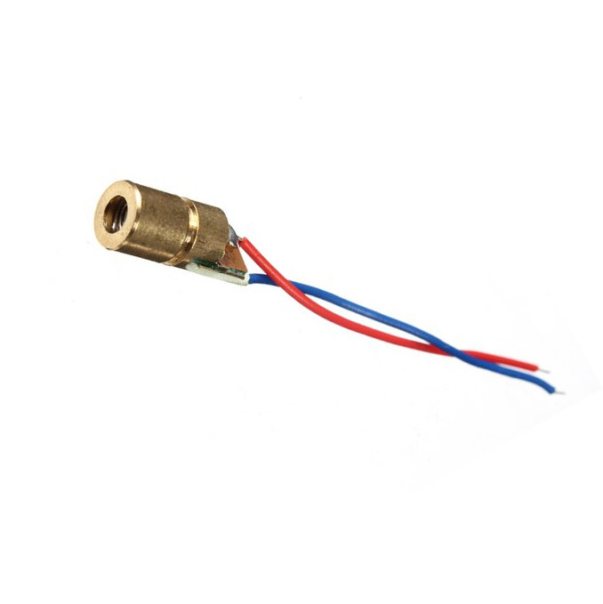 10 Pcs NEW Mini 650nm 5mW 5V Laser Dot Diode Module Head