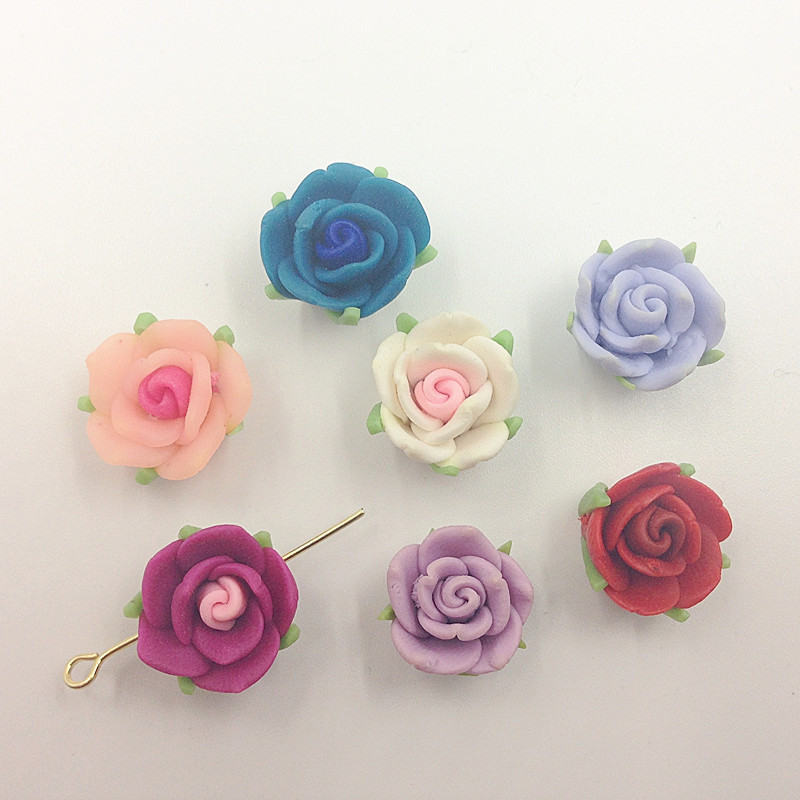 15mm 50 unids/pack mezclar colores hoja de la flor grano de la ...