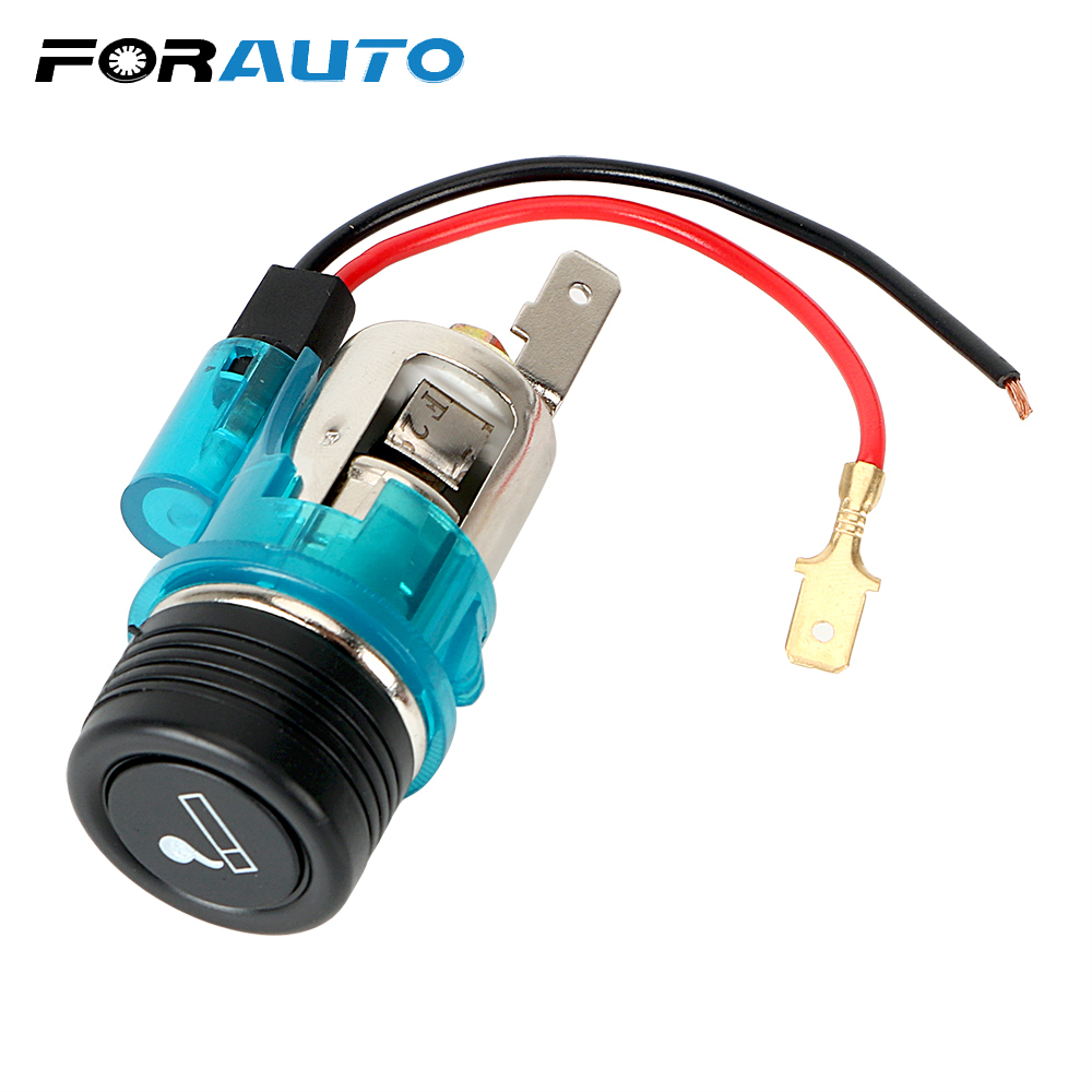 FORAUTO 12V 120W Car Cigarette Lighter Power Socket With LED Light Boat Motorcycle Outlet Plug Unviersal