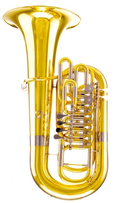 3/4 Tuba F Key Height 907mm Yellow Brass Tubas Musical Instruments Professional