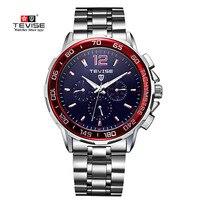 Tevise 탑 브랜드 남성 시계 자동 자체 바람 기계식 시계 tourbillonstainless 스틸 럭셔리 손목 시계 relojes hombre