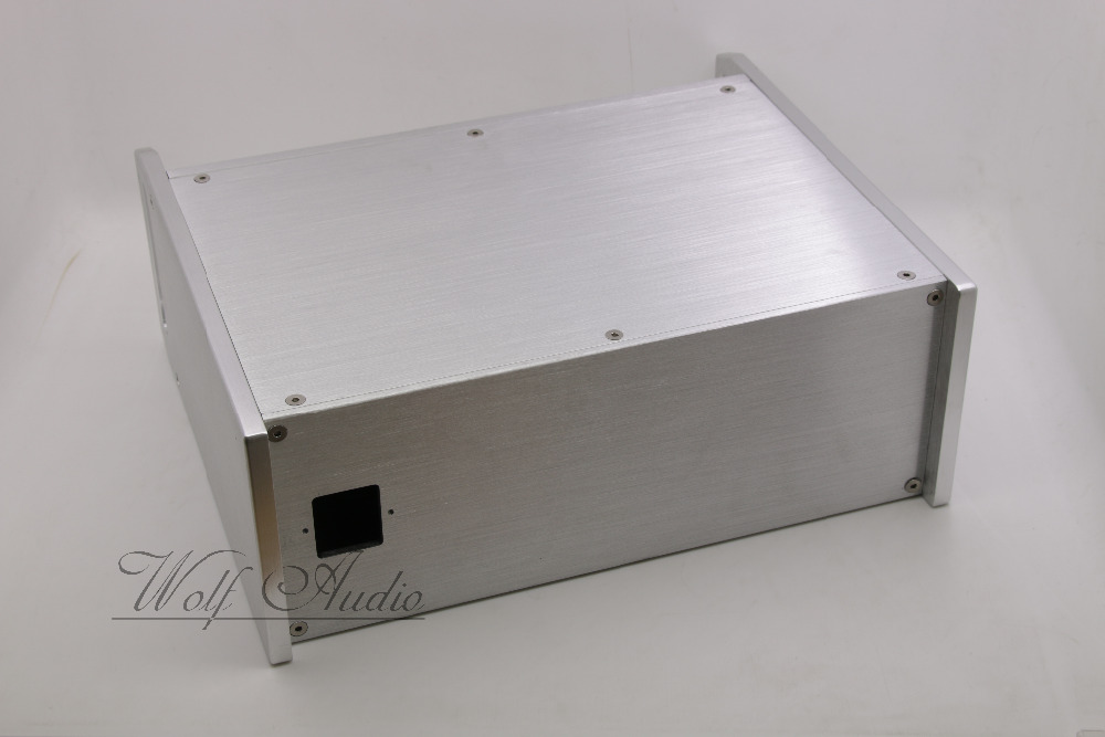 WF3212シルバーフルアルミシャーシアンプエンクロージャプリアンプケースチューブアンプボックスdiy  グループ上の 家電製品 からの アンプ の中 3