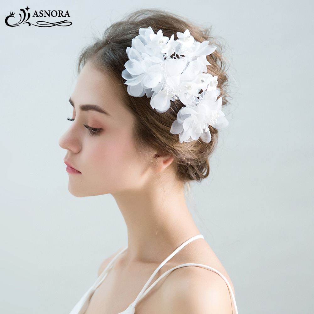 ASNORA Hair-Accessories Affordable Hairbands Wedding-Headpiece Bridal-Flower Elegant
