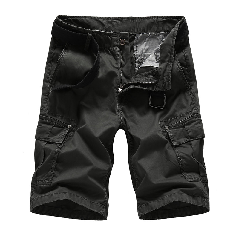 Summer Cargo Shorts Mens Casual New Fashion Multi Pocket Loose Mens Military Outdoors Short Trousers Plus Size Fitness Clothing