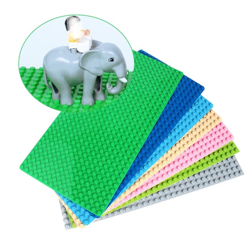 1pcs big Particles Building Blocks Base Plate 51*25.5cm Baseplate 100% Duploes Kids Bricks