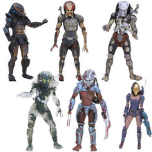NECA Alien vs Predator Série Selva de Concreto figura Caçador Alienígena Ela Predator PVC Action Figure Collectible Modelo Toy(China)