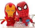 18-32 cm Q versión de The Avengers Spider-Man Thor Capitán América Iron Man 3 de peluche de juguete muñeca De Regalo de Los Niños 2 unids/lote