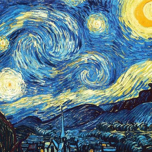Van Gogh Serie stoff malerei für patchwork diy beutel handwerk ...