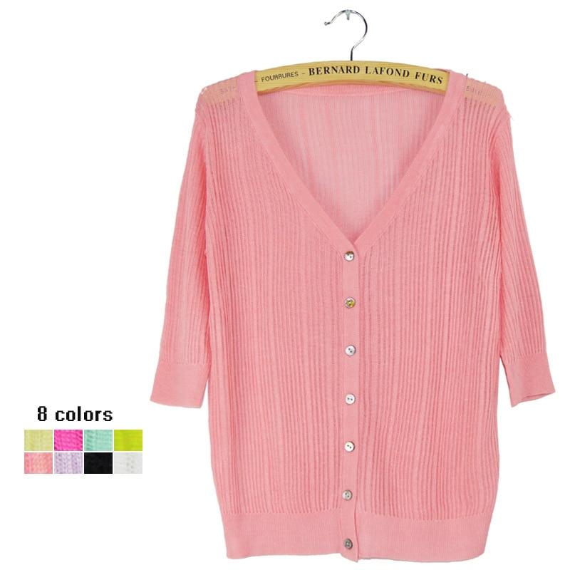 2014 Frauen Pullover Pullover Häkeln Begrenzte Heiße Verkauf Regelmäßige V-ausschnitt Echt Angebot Direct Selling Strickjacke Baumwolle Neue