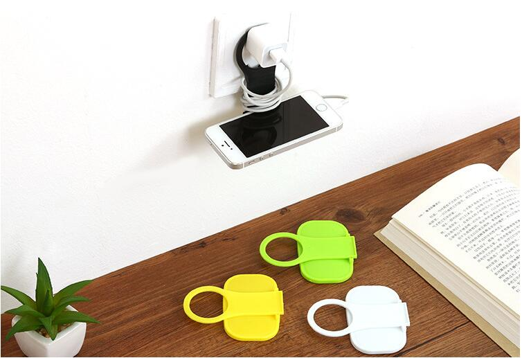 Folding Mobile Phone Wall Charger Adapter Charging Holder Hanging Stand Bracket Support Charge Hanger Rack Shelf Cell Phone hook in Storage Holders Racks from Home Garden