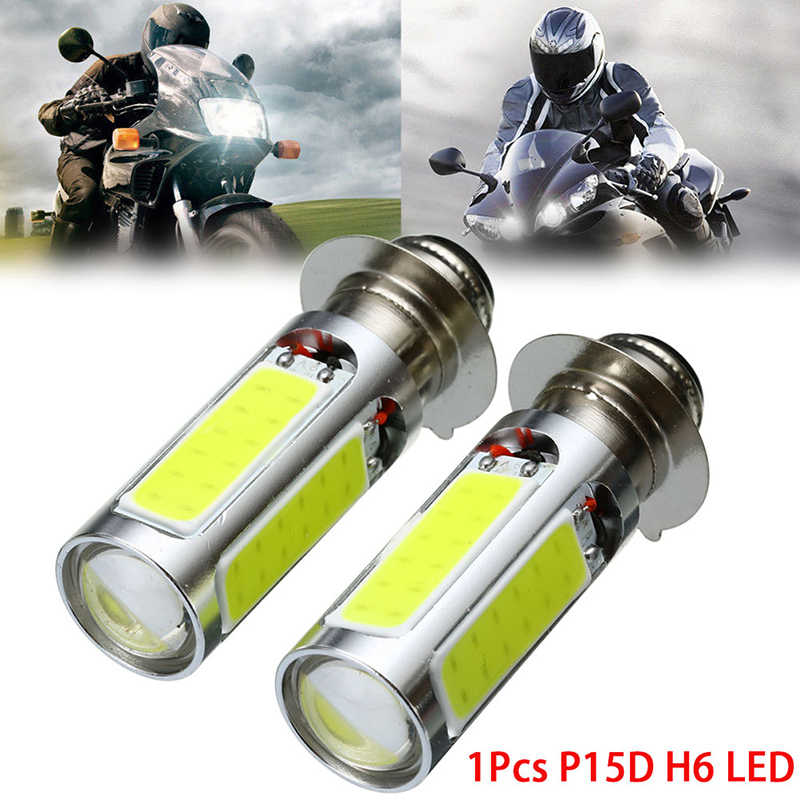 H6 P15D DC 12V Led Motorcycle 1200LM Hi Lo Lamp Scooter Accessories Moto DRL For Suzuki Headlight Bulb Canbus Fog Light 12 SMD
