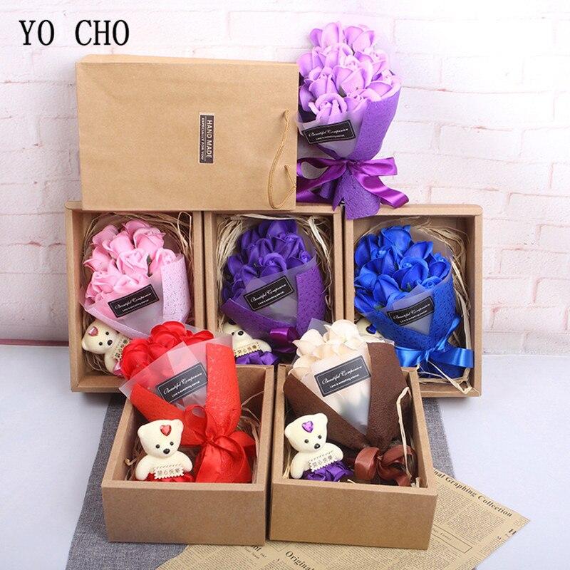 Yo Cho Grosshandel Seife Rose Valentinstag Geschenke Box Kunstliche