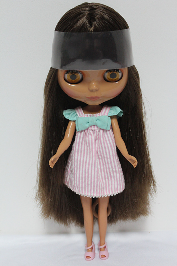 Free Shipping big discount RBL-124DIY Nude Blyth doll birthday gift for girl 4colour big eyes dolls with beautiful Hair cute toy free shipping bjd joint rbl 415j diy nude blyth doll birthday gift for girl 4 colour big eyes dolls with beautiful hair cute toy