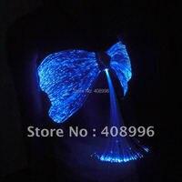 Sexy optical fiber fabric luminous bra for club performance/fashion show/Singular dress/Show Clothing