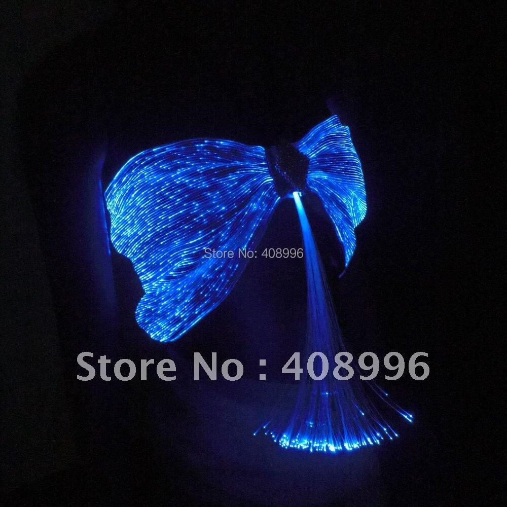 Sexy tissu de fiber optique lumineuse soutien - gorge pour la performance du club / défilé de mode / robe singulier / spectacle vêtements