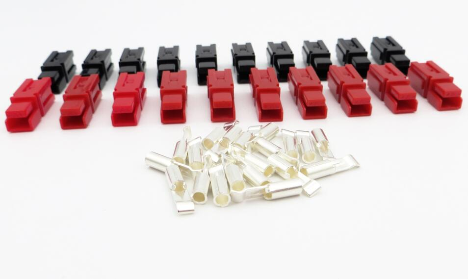 10Pairs X 45A 600V PP45 Power Connector Plug Red Black PP45 Powerpole & 20pcs Contacts For Solar Caravan Boat