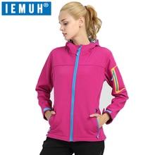IEMUH Brand New Female Trekking Hiking Outdoor Windproof Sports Softshell Jacket Waterproof Women Camping Climbing Skiing
