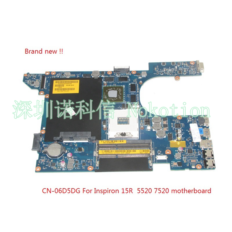 NOKOTION Brand New QCL00 LA-8241P CN-06D5DG 06D5DG 6D5DG for dell Inspiron 15R 5520 laptop motherboard HD7670M 1GB Graphics new bottom base box for dell inspiron 15 5000 5564 5565 5567 base cn t7j6n t7j6n