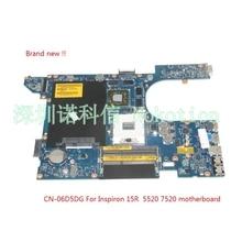 NOKOTION Marke Neue QCL00 LA-8241P CN-06D5DG 06D5DG 6D5DG für dell Inspiron 15R 5520 laptop motherboard HD7670M 1 GB Grafiken