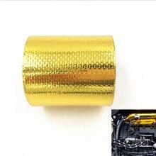 FIFAN-5 м самоклеющийся Стеклопластик золото высокой температуры теплозащитный экран рулон ленты барьер Золотая лента термическая барьер для автомобиля грузовика