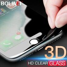 3D ソフトエッジカバー保護ガラス iphone 6 6s プラスガラス 8 7 プラス強化 iphone 6 スクリーンプロテクター