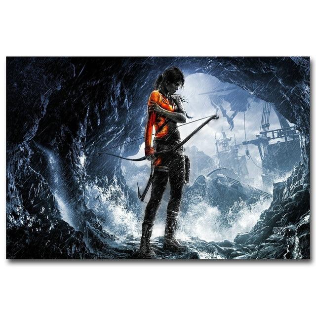 Шелковый Плакат Гобелен Tomb Raider Лара Крофт В Ассортименте 4