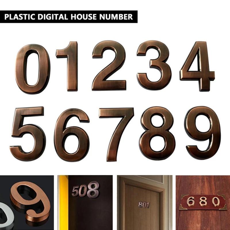 5cm Room Plaque Sign Number 7 House Hotel Door Address Digits Sticker Plate