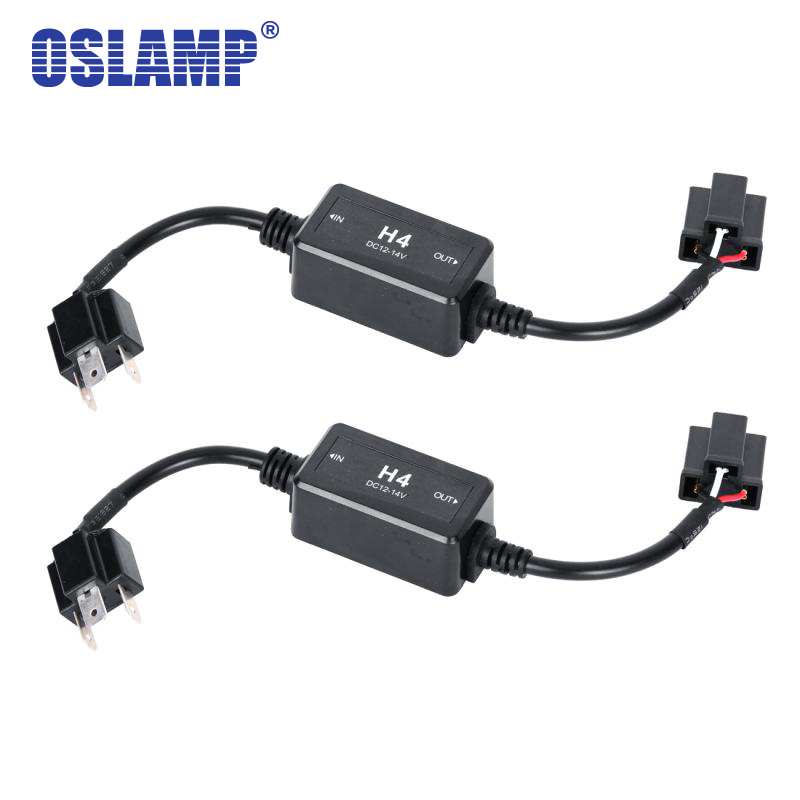 oslamp h4 9005 9006 canbus wiring harness adapter led car. Black Bedroom Furniture Sets. Home Design Ideas