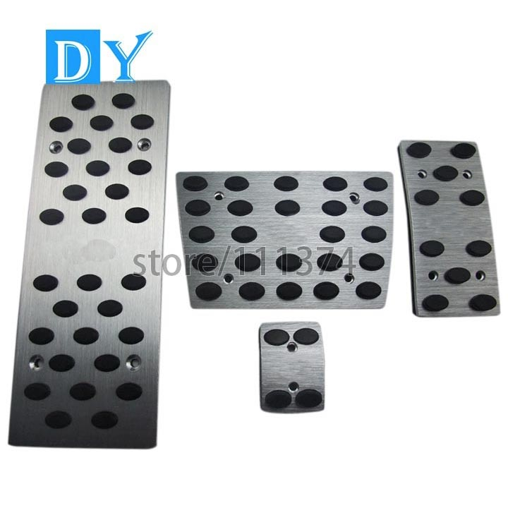 Pedal Covers for Lexus RX200t 450h IS250 RC GS Car Gas Brake Pedal Pads No Drill Anti-Slip with Rubbers Aluminum Replacement Automatic Accessories