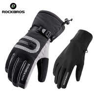 ROCKBROS Winter Touchscreen Doppel Schicht Radfahren Handschuhe Thermische Warme Winddicht Wasserdichte Mtb Bike Fahrrad Handschuhe Für Ski