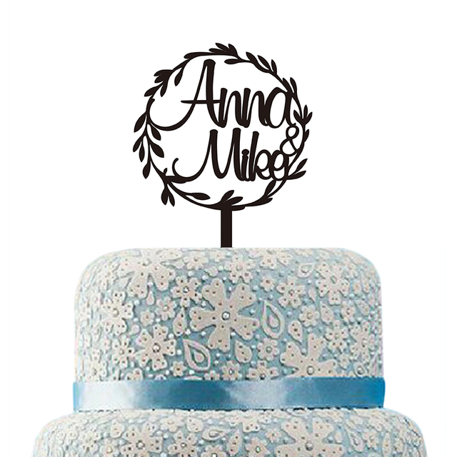Personalized Wedding Cake Topper Custom Rustic Wedding Cake Topper