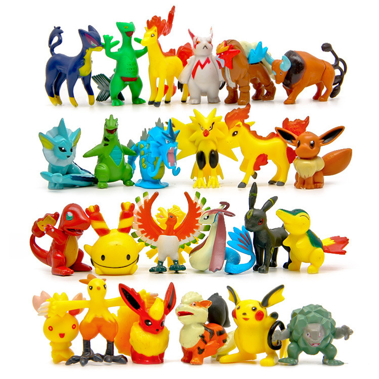 100pcs lot Pokemon Random Delivery Weedle Spearow Snorlax Pikachu Action Figures Toys PVC Pocket Monster Model