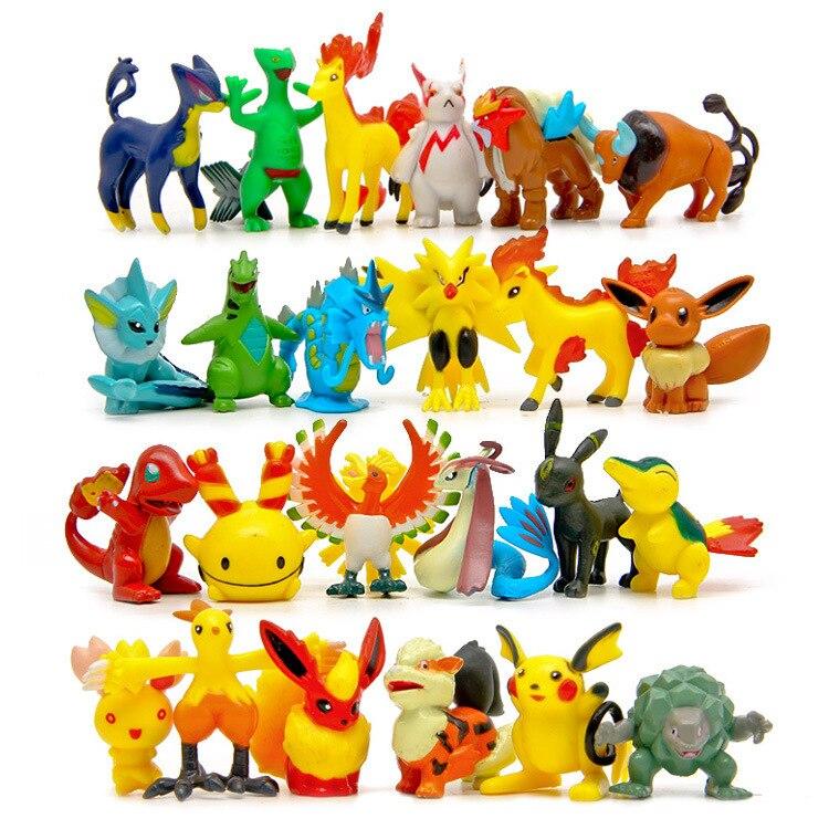 100 pcs/lot Pokemon livraison aléatoire Weedle fer de lance ronflement Pikachu figurines jouets PVC poche monstre modèle jouet