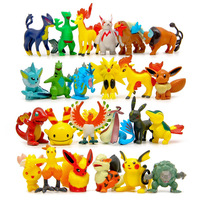 100pcs/lot Pokemon Random Delivery Weedle Spearow Snorlax Pikachu Action Figures Toys PVC Pocket Monster Model Toy