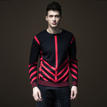 Sudaderas New Arrival Full O-neck Standard Casual Pullovers Men Sweater Pinli 2017 Autumn New Men's Striped Sweater B173210133
