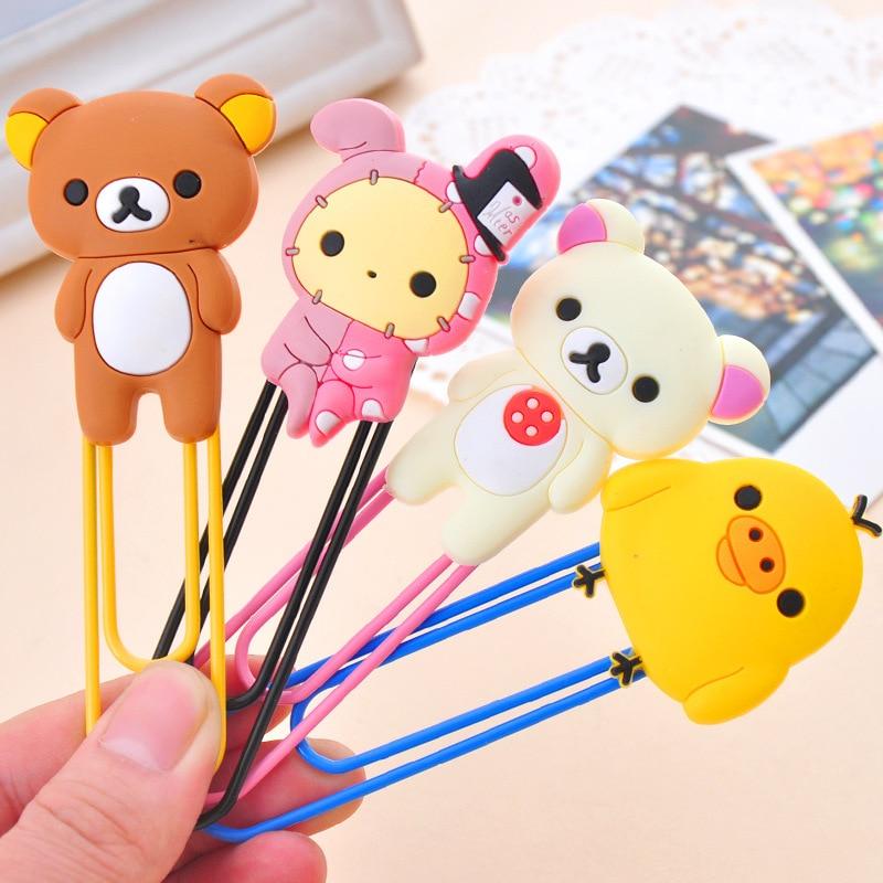 Amicable 1 Pcs Cute Cartoon Kawaii Rilakkuma Series Bookmark Clip Memo Clip Paper Clip Bookmark School Office Supply Paperclip Bookmarks Office & School Supplies Bookmark