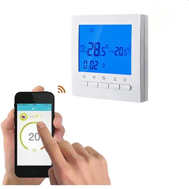 Digital Programmable Floor Heating Thermostat Underfloor Warm Temperature Controller LCD Backlight With Sensor 220v lcd programmable electric digital floor heating room thermostat blue backlight weekly warm floor controller