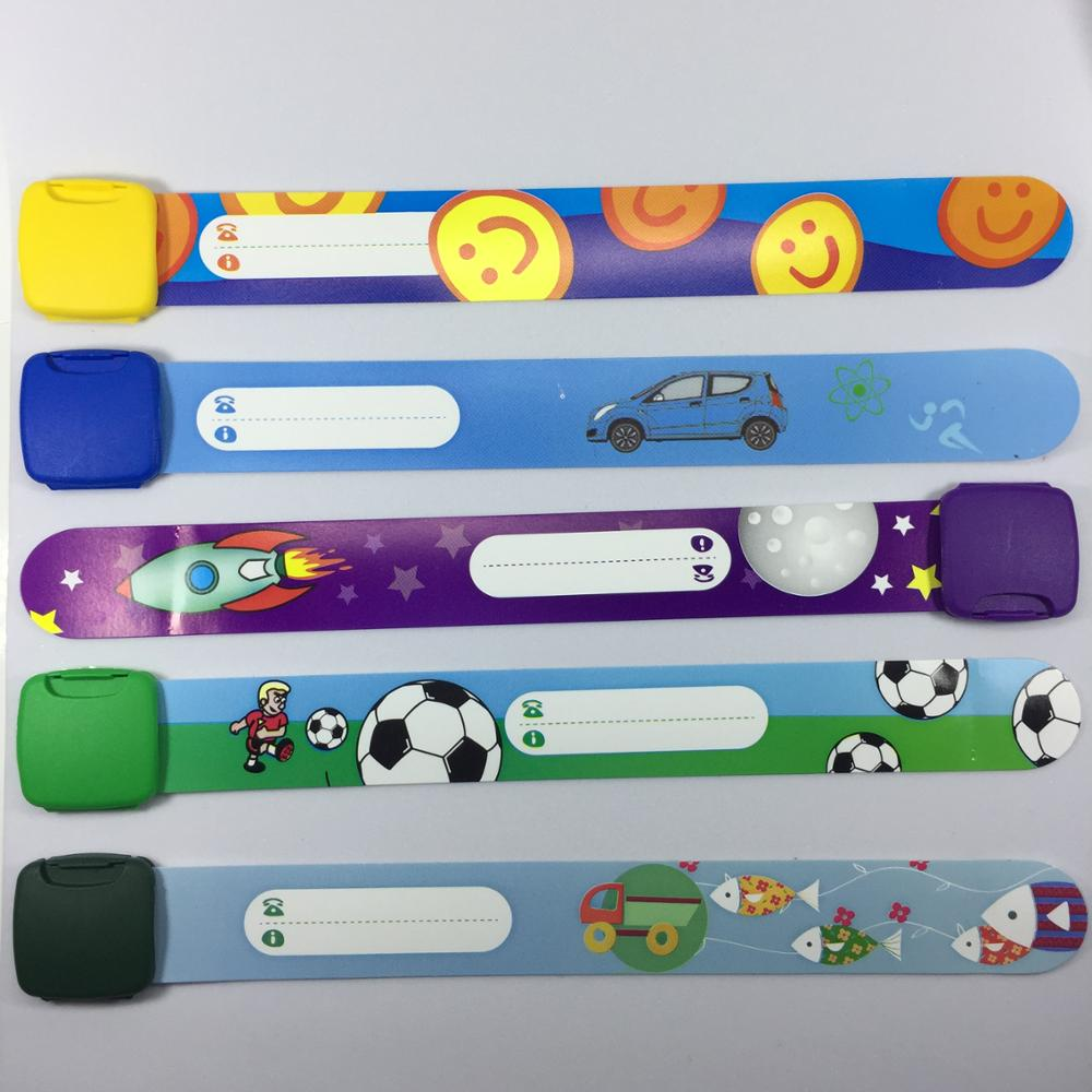 3 Pcs Child Safety Id Wristband Band Reusable Wristbands For Kids Variety Of Designs And Colours Fully Adjule In Bracelets From Jewelry