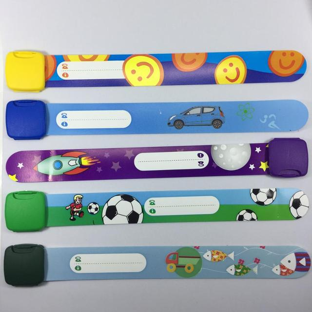 3 pcs Child Safety ID Wristband, Band Reusable Safety Wristbands for Kids, Variety of Designs and Colours Fully Adjustable