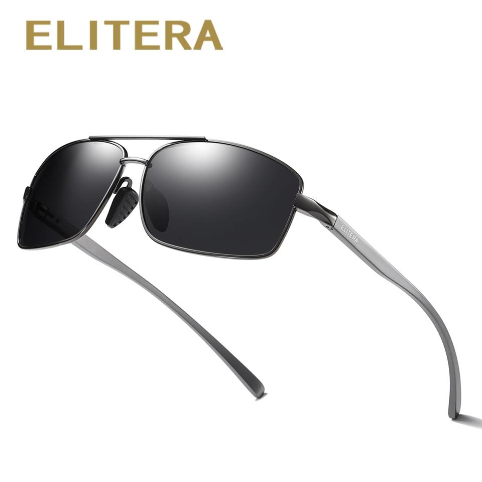 ELITERA Magnesio De Aluminio A Estrenar Polarized Gafas de sol de los hombres 3 Color Gafas de sol de los hombres de conducción Goggle gafas Accesorios
