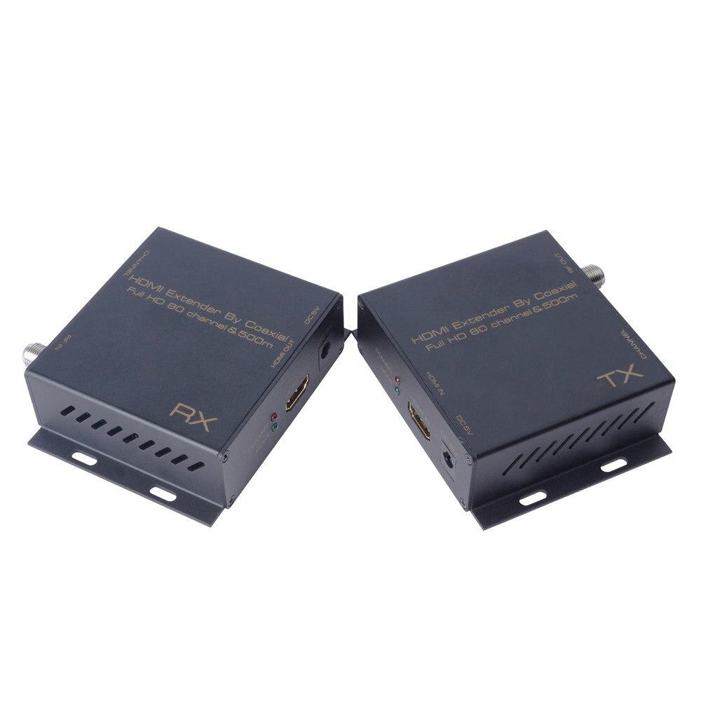 De Goedkoopste Prijs Hdmi Extender Door Coaxiale Full Hd Tot 80 Channel & 500m. Ondersteuning Hdmi Resolutie Tot 1080 P/60hz. Ondersteuning 80 Kanalen Voor O