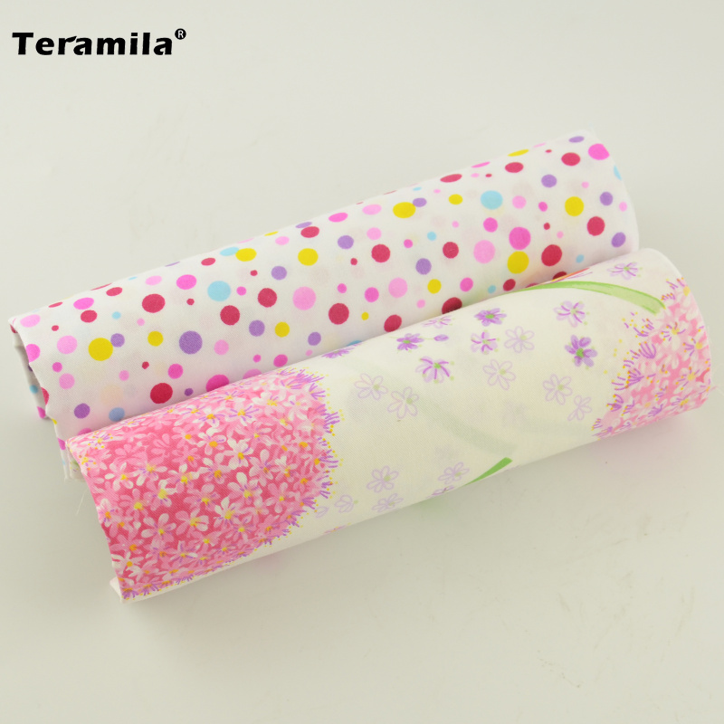 New arrivals cuted pink flowers and circle pattern 100 for Children s material sewing