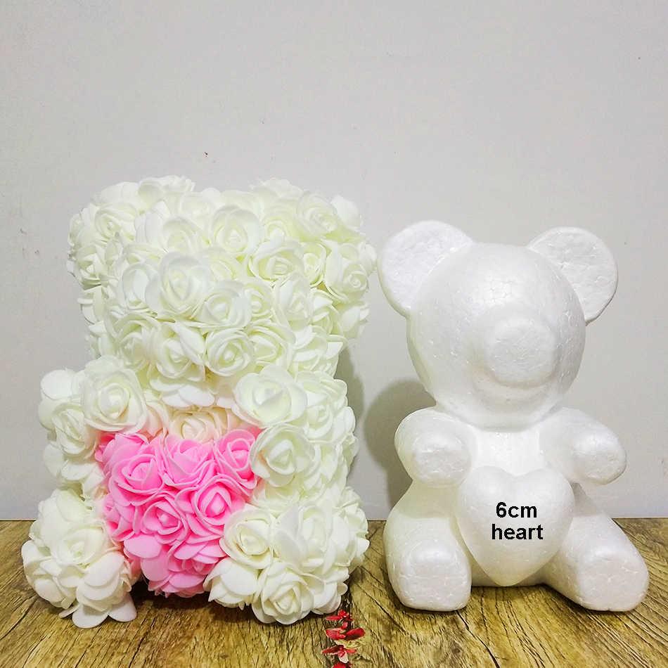 1 комплект 20 см пенополистирол пенопласт медведь Моделирование пены шары белый ремесло Сердечко-Роза медведь день учительницы день рождения DIY подарки